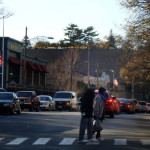Traffic backed up Nov. 6 on Washington Street, Norwalk Democrats say. (Contributed photo.)