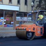Paving being done in front of Norwalk Democratic headquarters on Nov. 6. (Contributed photo.)