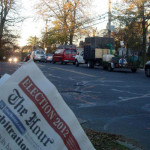 Traffic backed up Nov. 6 on Fairfield Avenue, Norwalk Democrats say. (Contributed photo.)