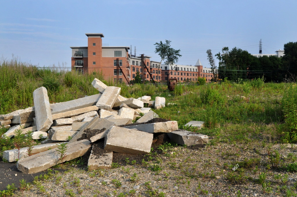 Rubble sits on the formerly tax-producing Norwalk property at I-95 and West Avenue, in this file photo.