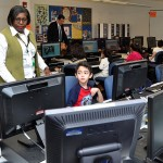 Children use the Brookside Elementary School computer lab in this file photo.