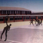An artist's rendering shows the planned addition for Rowayton Elementary School.