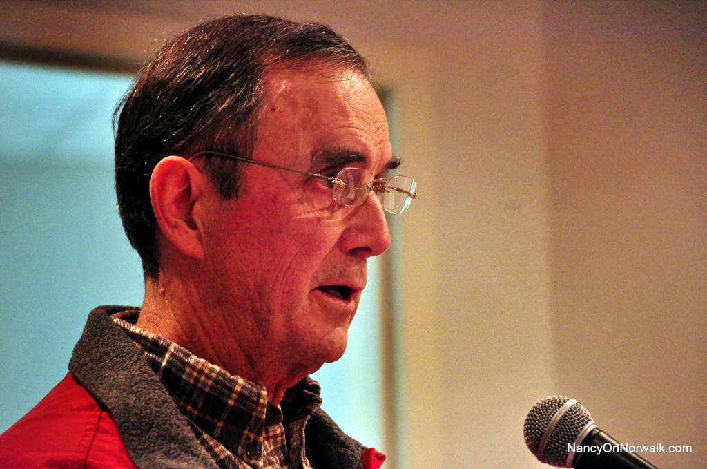 Norwalk writer Bill Dunne offers an opinion at the Jan. 8 Common Council meeting.