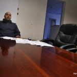 Norwalk Councilman David Watts (D-District A) sits in the office space he has rented at 165 East Avenue.