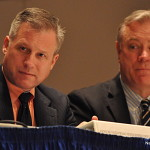 Norwalk Finance Director Thomas Hamilton, left, and