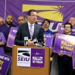 Gov. Dannel P. Malloy accepts SEIU's endorsement. (Christine Stuart photo)