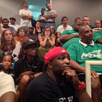 Union supporters and others pack the Norwalk Common Council chambers Tuesday.
