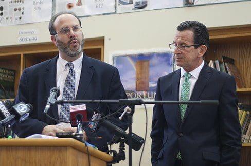 Education Commissioner Stefan Pryor and Gov. Dannel P. Malloy (Hugh McQuaid photo)