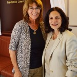 Dave Brubeck's aughter, Catherine Brubeck Yaghsizian (left) poses with state Rep. Gail Lavielle (R-143) of Wilton in Hartford.