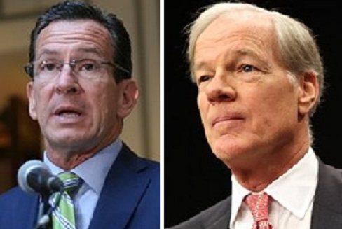 According to the Go.v Dannel  Malloy (left) campaign, GOP challanger Tom Foley (right) has pulled out of three debates.