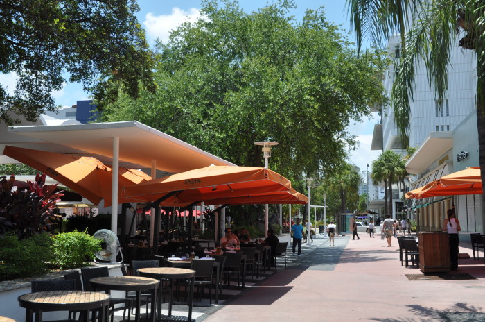 Lincoln Road Mall in Miami Beach, as it appears now.