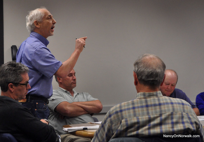 Paul Cantor expresses his opinion to the Oak Hills Park Authority in May. (File photo.)