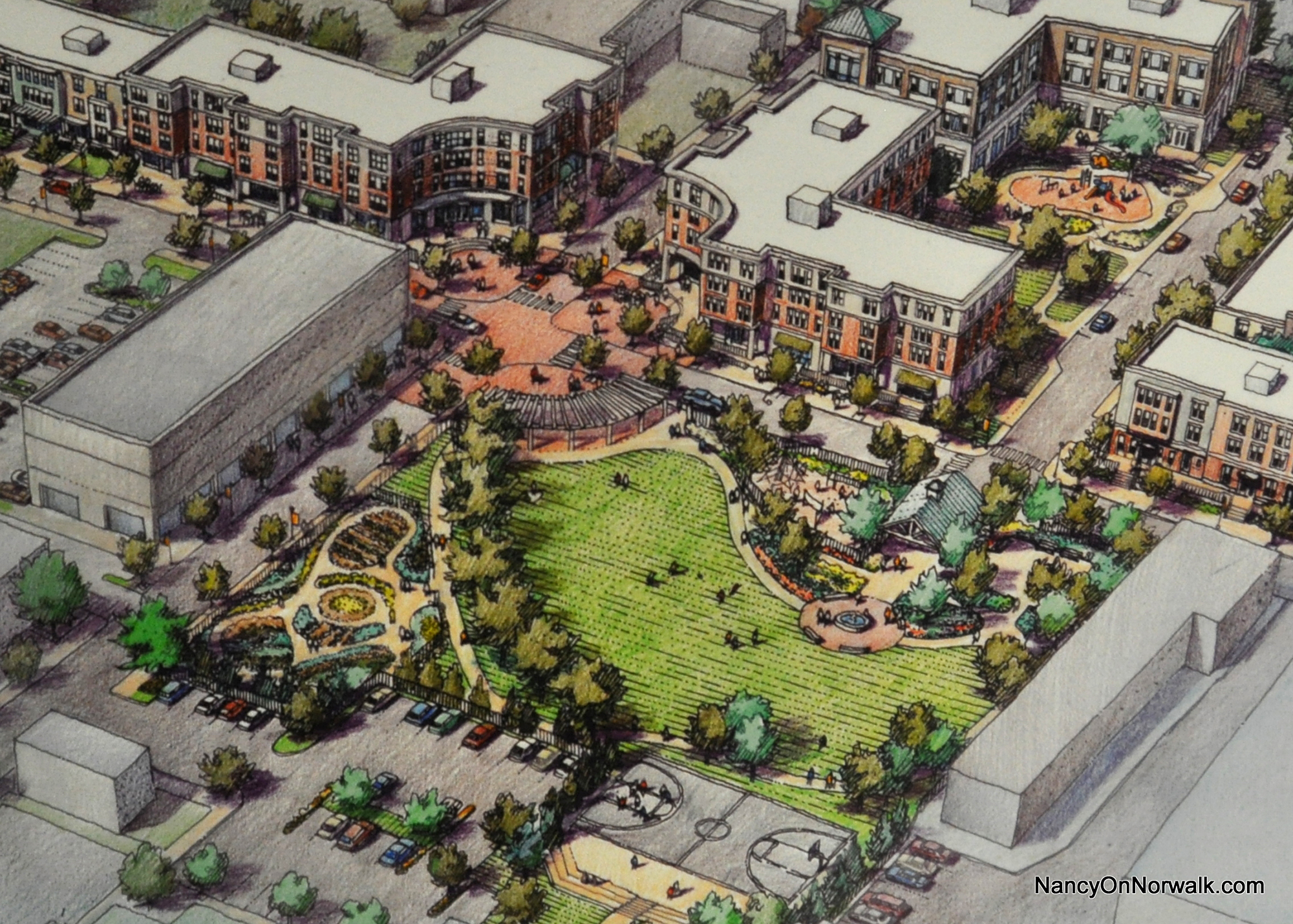 A 2013 artists rendering of the washington village design