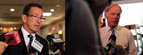 Gov. Dannel P. Malloy and Republican Tom Foley (CTNJ file photos)