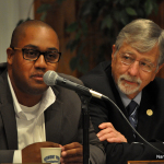 Councilman David Watts (D-District A), left;