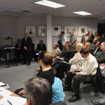 Norwalk citizens pack a City Hall meeting room to hear General Growth Properties (GGP)