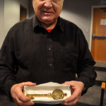 Rick Setti shows off his new key to Norwalk, Tuesday in City Hall