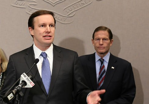 U.S. Sens. Chris Murphy and Richard Blumenthal (Christine Stuart photo)