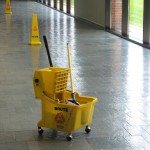 "The ""lonliest mop bucket in the world,"" by Flickr user Alan Levine."