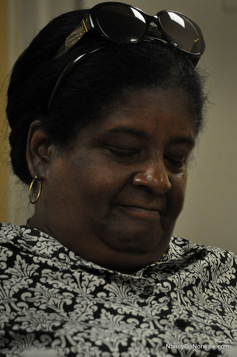 Brenda Penn-Williams serves as a Norwalk Housing Authority Board member Thursday at the Leroy Downs housing complex.