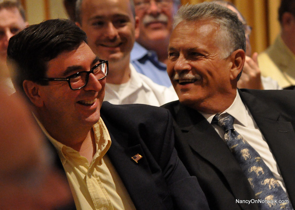 Former Norwalk Republican Town Committee Chairman Art Scialabba, left, and RTC Chairman Pete Torrano.