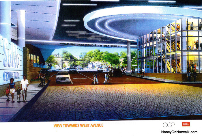 An artist's rendering of the overpass concept for North Water Street.