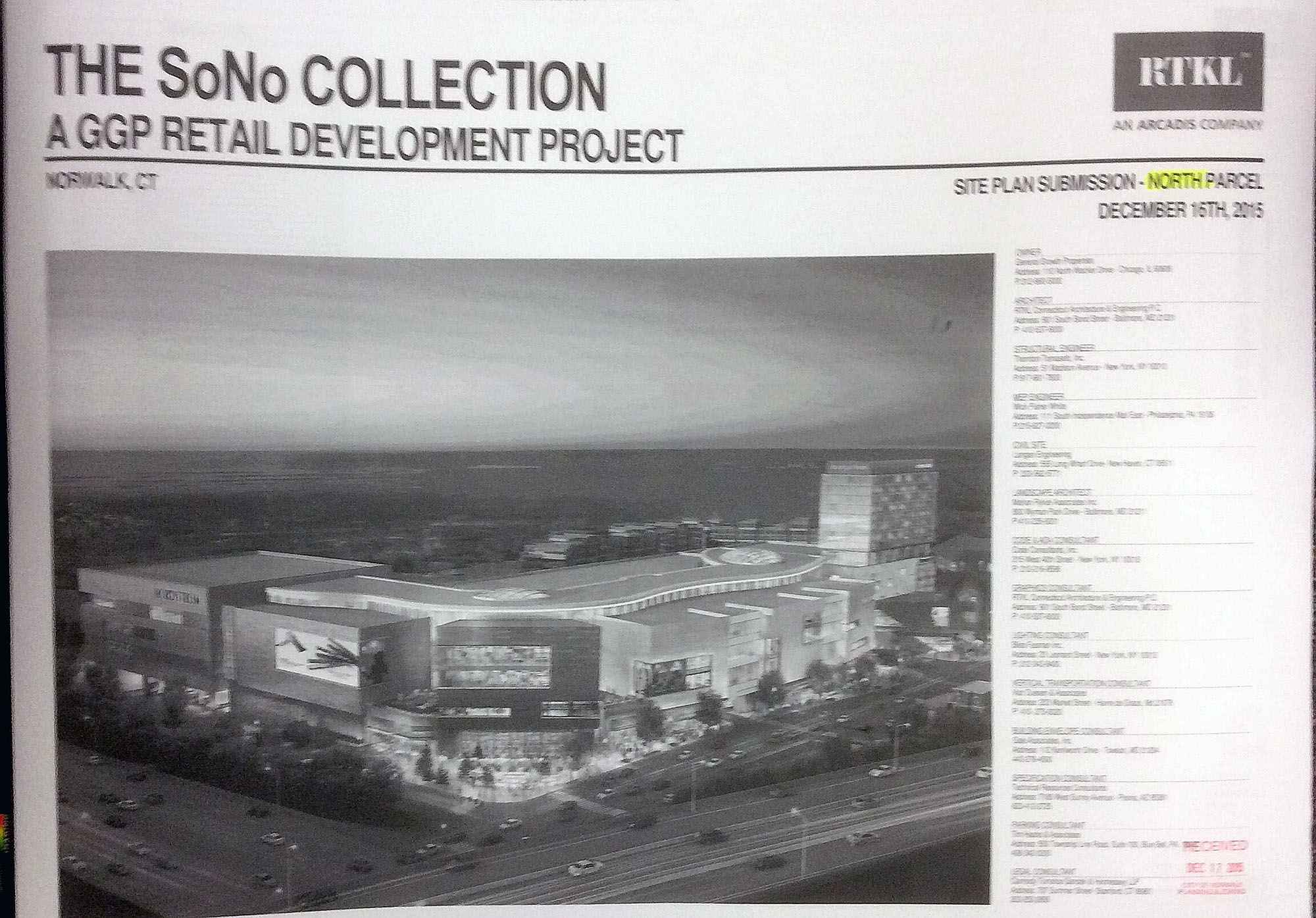 Ggp S Sono Mall Application Includes Traffic Light Proposals Street Alterations Nancy On Norwalk