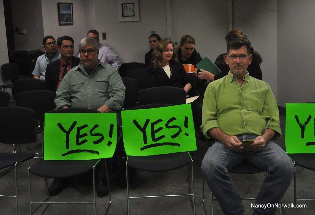 Norwalk Bike/Walk Task Force Co-Chairman Mike Mushak waits on Wednesday for