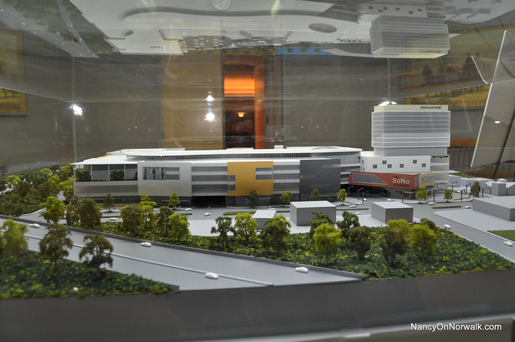 The model of the proposed SoNo Collection, recently placed in the City Hall atrium.