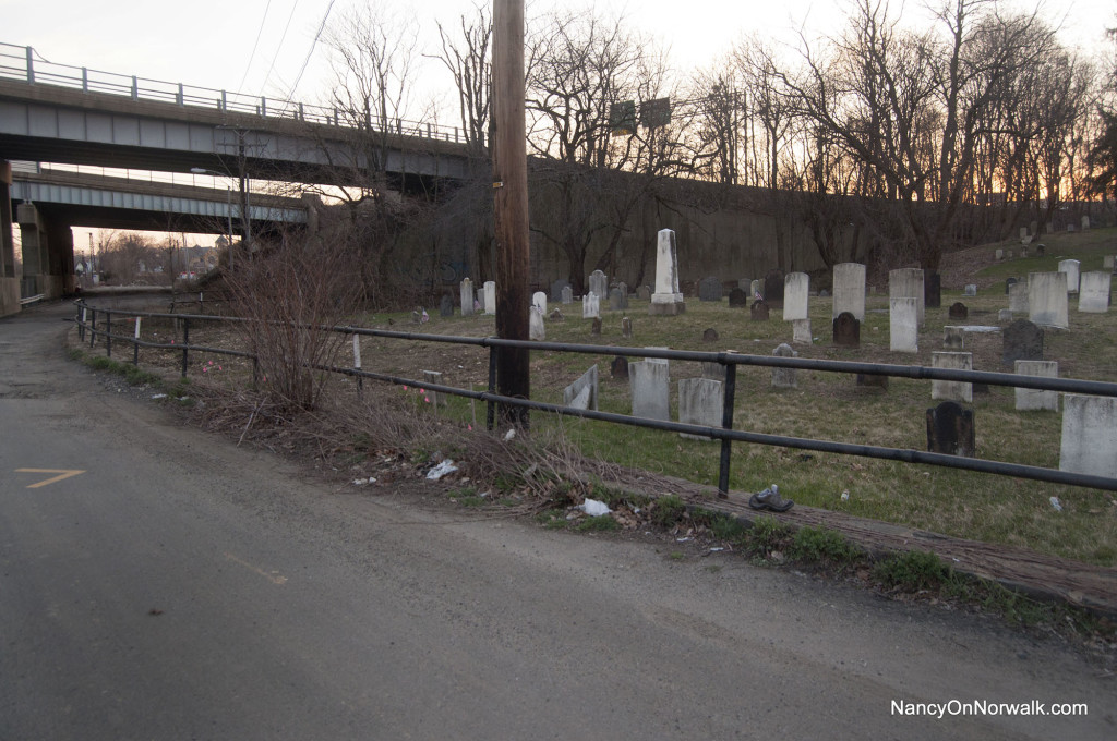 The Pine Island Cemetery, adjacent to Crescent Street.