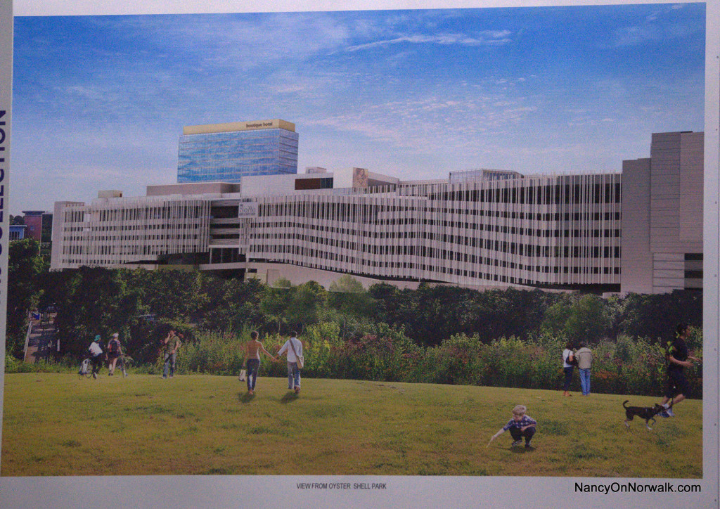 The latest artists rendering from General Growth Properties (GGP) of its proposed mall, from Oyster Shell Park.