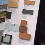 A materials board for The SoNo Collection.