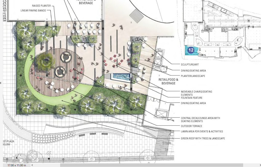 An illustration of The SoNo Collection's sculpture garden, as contained in the Norwalk Common Council Planning Committee packet for Thursday's meeting.