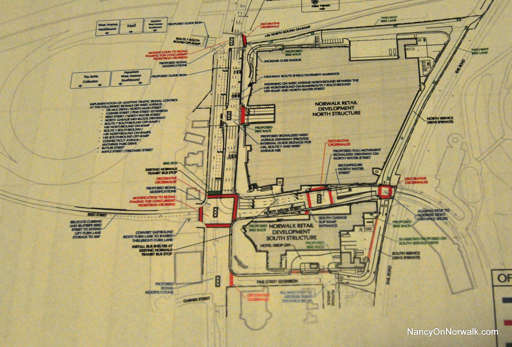 A diagram shows traffic plans for the area of The SoNo Collection.