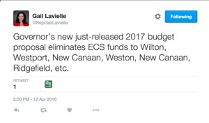 Tweet from State Rep. Gail Lavielle (R-143)