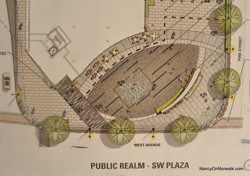 Plans drawn by General Growth Properties (GGP)  for the southwest plaza of The SoNo Collection.