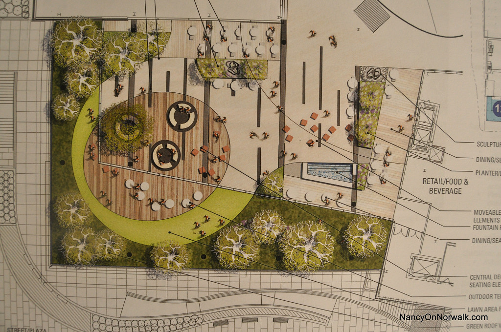 Plans drawn by General Growth Properties (GGP) for The SoNo Collection sculpture garden.
