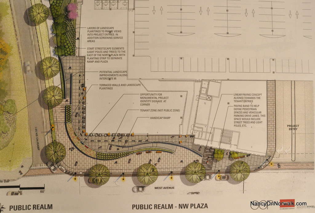 Plans drawn by General Growth Properties (GGP)  call for a two-tiered plaza at the northern end of The SoNo Collection.