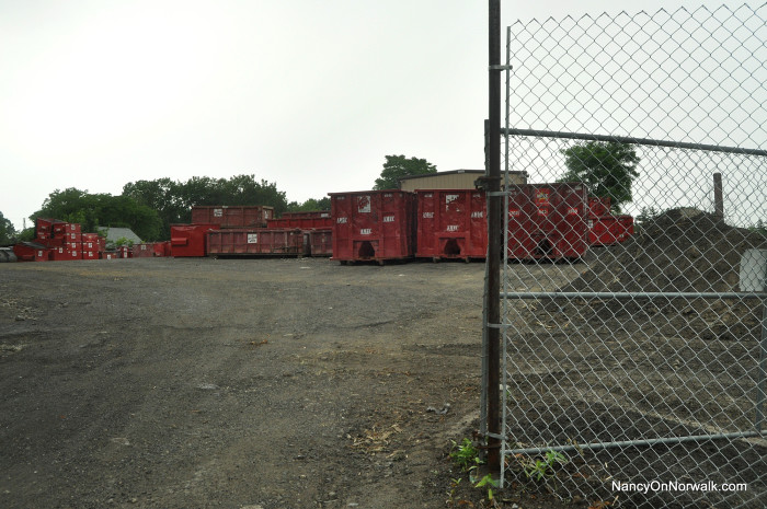 The AMEC yard on Hemlock Place.