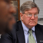 Attorney Tom Mooney, of Shipman & Goodwin, at a recent Norwalk Board of Education committee meeting in City Hall.