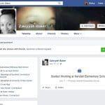 Zakiyyah Baker's Facebook page on Saturday.