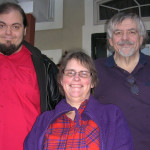 From left, Eric, Nancy and Mark Chapman on Thanksgiving, 2015.