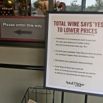 The sign in the lobby at Total Wine & More in Manchester.