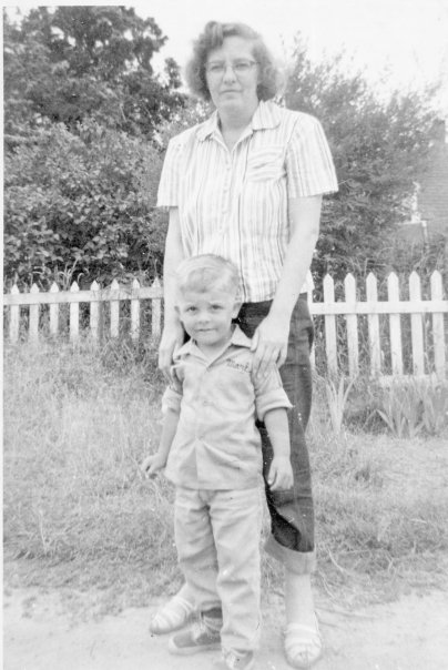 Mark with his mother, Martha Chapman.
