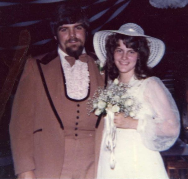 Mark and Nancy on their wedding day, May 28, 1977.