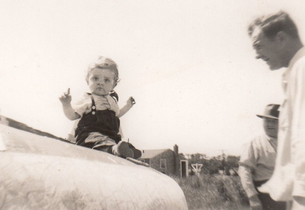 Mark Chapman with his father, Carl Chapman, in 1953 or 1954.