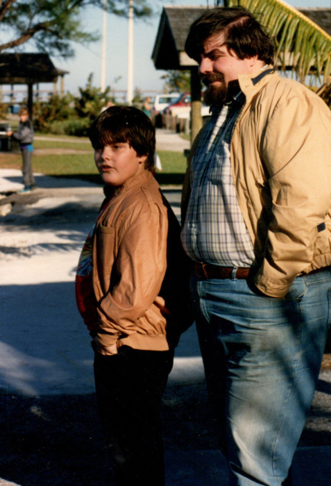 Mark and Eric in 1988.