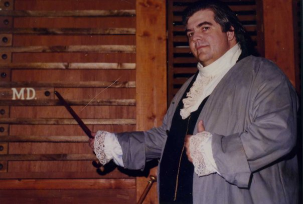 "Mark as Samuel Chase in a 1995 production of ""1776"" on Cape Cod."