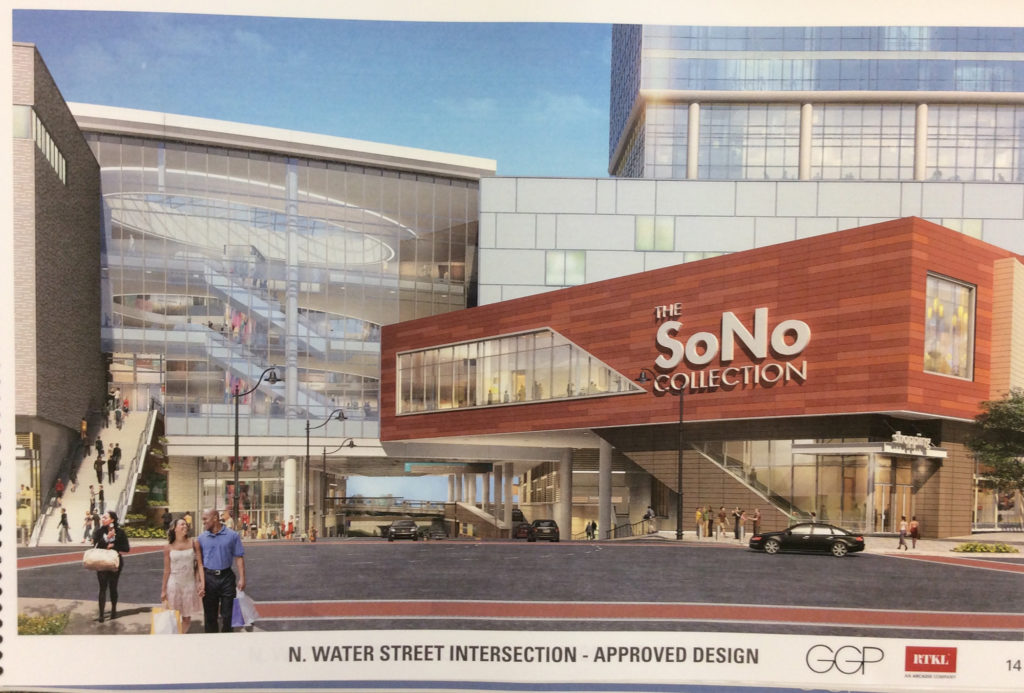 A page from GGP's plans on file in Norwalk Planning and Zoning.