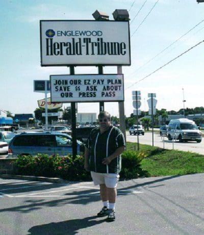 Freshly arrived in Englewood, Fla., 2002.